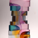 1_Christine_Barney_Float_Glass_18.5 in. H. x 7.25 in. W. x 7.5 in. D.
