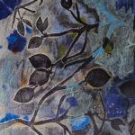 Eileen_Ferara_Blue Storm_collograph+mixed media_22x30in