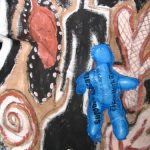 Blue Doll with Culture Mural