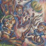 Ann_Hjelle_Flying Babies_PastelGraphite_30x42