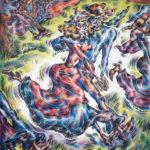 "Ann_Hjelle_Peasant Dancers 1_PastelGraphite_37x32"""