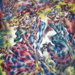 "Ann_Hjelle_Peasant Dancers 2_PastelGraphite_37x32"""