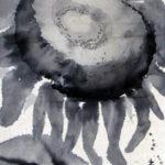 Deirdre_Kennedy_Sumie Sunflower 2_Sumie_7x10