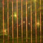 "Roswell, oil & acrylic on canvas, 20"" x 60"", 2015"