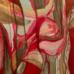 Caridad_Kennedy_Red Coral_Mixed Media On Paper_12x9 (unframed) 22x18 (framed)
