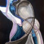 Caridad_Kennedy_Underwater Vessel_Mixed Media On Paper_ 12x9 (unframed) 22 x 18 (framed)