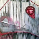 Caridad_Kennedy_What's For Dinne_Mixed Media On Paper_11x15 (unframed) 18 x 22 (framed)
