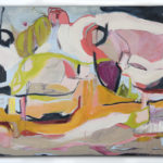 Gail_WInbury_They We Dancing in the Kitchen_oil,charcoal, and cold wax on linen_48x64_2014 & 2018