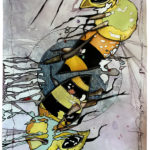 Cheryl_Gross_2 bees_Mixed_Media_Paper_22X30