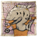 Cheryl_Gross_Fish_Without_A_Bicycle_Mixed_Media_Paper_12X12