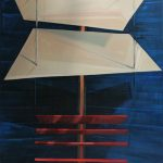 """Travel Through Two Planes Oil on canvas 48""""H x 36""""W"""