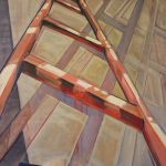 "Corporeal Ladder Oil on canvas 48""H x 36""W"