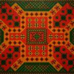 """Rangoli 1,2009 Beads on Canvas 30""""x36"""""""