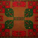 """Rangoli 3, 2009 Beads on canvas, 30""""x36"""""""