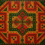 """Rangoli 2, 2009 Beads on Canvas, 30""""x36"""""""