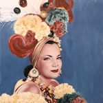 Carmen Miranda, 2015 oil on panel, 22x22in