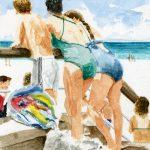 Jones Beach, 8x10 inches, watercolor on paper