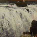 Patterson Falls, 34x54 inches, oil on canvas