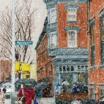 Brooklyn Inn, 9x14 inches, colored pencil on paper