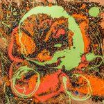 Confident 36X36X1.5 Acrylic mixed media on canvas