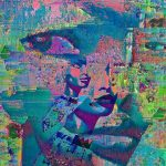"Side Eye , Digital collage of analog mixed media collage #Selfie Aluminum Print, Limited Edition 2/5 30""x24""x3/4"""