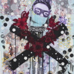 Theda_Sandiford_Cat Woman Forever_Mixed Media_36x24