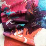 Cascades, Mixed media on canvas, 20x23