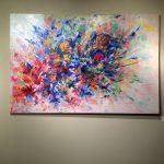 """Esplosione in Blu"", oil on canvas, 39x59in"