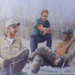 02.Deer Camp Series-Sheldon's Story, 30_x40_, WC, 2002