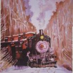 04.The Durbin Snow Train, 24_x36_, WC, 2001