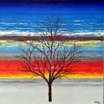 RAJENDRA MEHTA, Winter, Acrylic on canvas, 36x36x1.5 inches