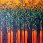 RAJENDRA MEHTA, Summer, Acrylic on canvas, 36 x48x1.5 inches