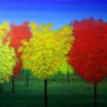 RAJENDRA MEHTA, Autumn. Acrylic on canvas, 36x48x1.5 inches