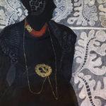 Loura_VanderMeule_Golden apron buckle_Oil pastel on paper_50x 48