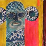 Gannon_Crutcher_Blue-Elephant-at-Sunset_Acrylic_16.5x11.75in