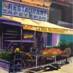Elliot_Appel_Lunch At La Isla_Acrylic_ 16_x12_