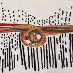 Geri_Hahn_Deformation of Figures_Embroidered Silk Fiber Art_ 26x34 inches