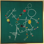 Geri_Hahn_Don't Stop Me Now I'm Havin a Good Time_Embroidered Silk Fiber Art_30x30 inches_