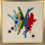 Geri_Hahn_Music in Curved Entrances_Embroidered Silk Fiber Art_30x30 inches
