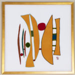 Geri_Hahn_The Conjunction And_Embroidered Silk Fiber Art_30x30 inches