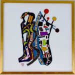 Geri_Hahn_The Conjunction Not._Embroidered Silk Fiber Art_30x30 inches