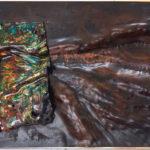 Judy_Wukitsch_Immigration, every minute 20 people..._enamel on copper, brass, clayboard_6_x12_