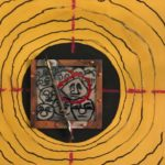Judy_Wukitsch_Target series_enamel, sterling silver, copper, conte pencil on clayboard_ 5_x5_