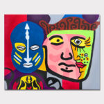 Mark_McKinney_Faces_from_the_streets_of_Paris_acrylic_canvas_16x20