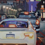 Franicsco_Silva__Friday-Night-Rush-Hour__Oil-on-canvas_16_x20_