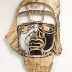 Philip_Robinson_Reflections_Olmec_Wood_Metal_44_x36_