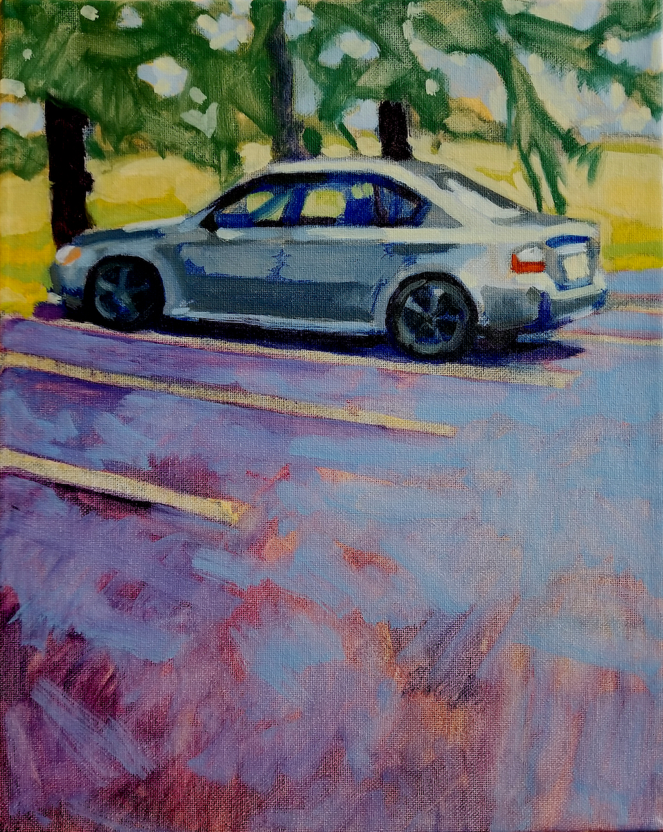 Silva_Francisco__Parking For One__Oil on Canvas_11x14_