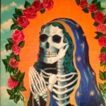 SantaMuerte, Teters, Acrylic on Panel, 24 x 24, $3800 - Michael Teters